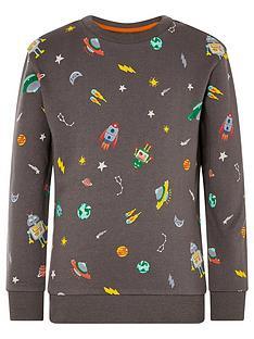 monsoon-boys-space-rocket-sweatshirt-charcoal