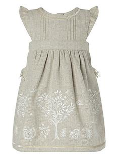 monsoon-baby-girls-tweed-embroidered-dress-taupe