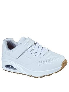 skechers-childrensnbspuno-strap-trainer-white