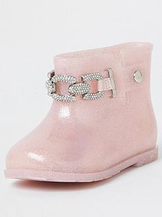 river-island-mini-girls-glitter-chain-wellies-pink