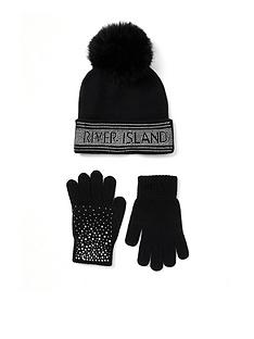 river-island-girls-embelished-pom-beanie-and-gloves-set
