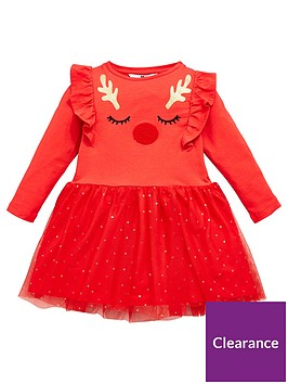 mini-v-by-very-girls-2-in-1-reindeer-mesh-dress-red