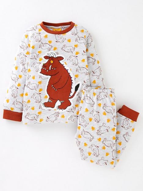 the-gruffalo-boys-gruffalo-applique-long-sleeve-pyjamas-grey