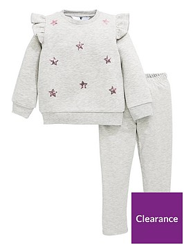 mini-v-by-very-girls-star-embroidered-ruffle-sweat-and-legging-set-grey