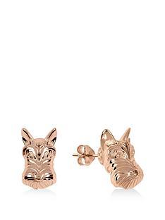 radley-radley-rose-gold-tone-dog-stud-ladies-earrings