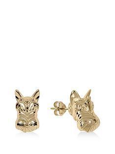 radley-gold-tone-dog-stud-ladies-earrings
