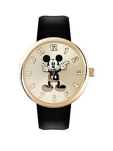 disney-mickey-mouse-moving-hands-gold-dial-black-strap-watch