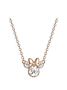 disney-minnie-mouse-rose-gold-plated-sterling-silver-crystal-pendant-necklace