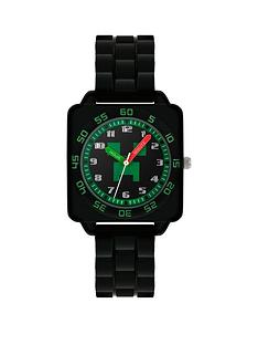 disney-minecraft-black-and-green-dial-black-strap-kids-watch