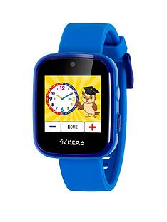 tikkers-tikkers-full-display-blue-silicone-strap-kids-smart-watch