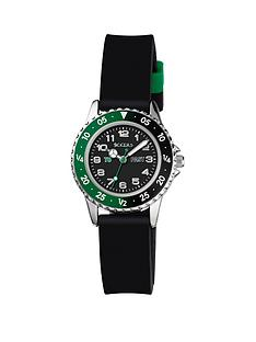 tikkers-tikkers-black-and-green-detail-dial-black-silicone-strap-kids-watch