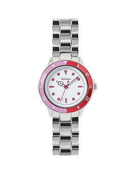 tikkers-white-and-pink-detail-dial-stainless-steel-bracelet-kids-watch