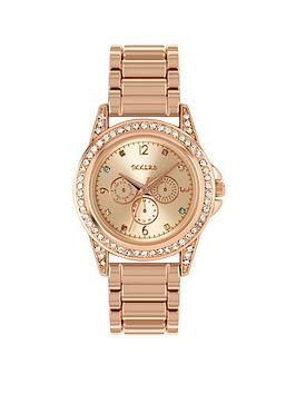 tikkers-tikkers-mother-of-pearl-crystal-set-multi-dial-rose-gold-stainless-steel-bracelet-kids-watch