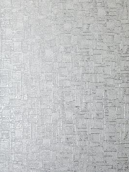 Product photograph showing Arthouse Basalt Texture Silver Wallpaper