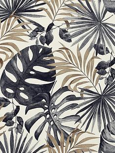 arthouse-jungle-wall-black-gold-wallpaper