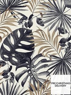 arthouse-jungle-wall-black-gold-wallpaper