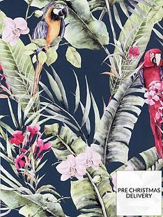arthouse-pretty-polly-navy-wallpaper