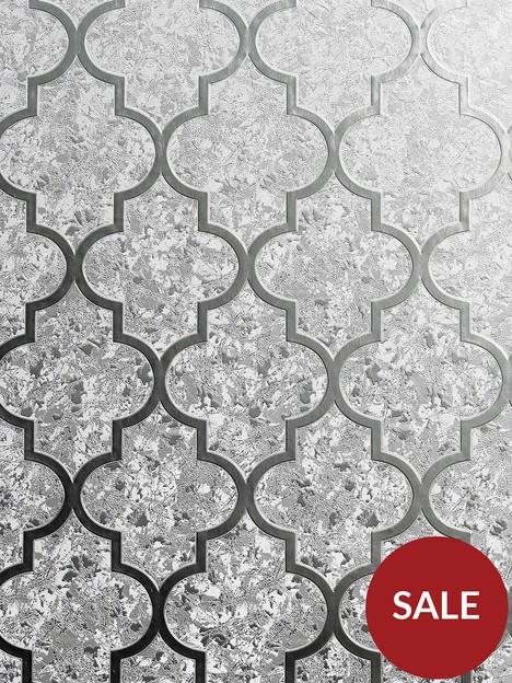 arthouse-velvet-trellis-silver-wallpaper