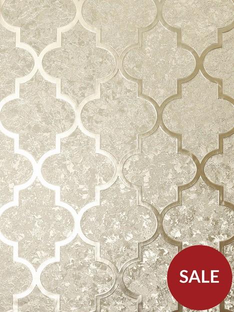arthouse-velvet-trellis-champagne-wallpaper