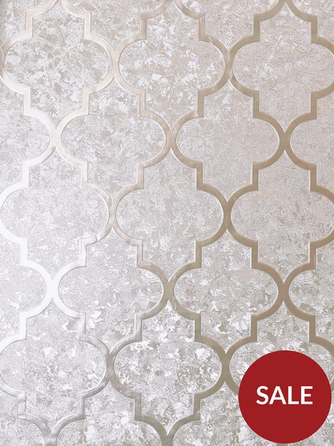 arthouse-velvet-trellis-rose-gold-wallpaper
