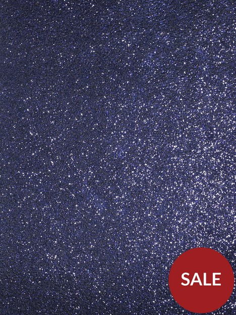 arthouse-sequin-sparkle-navy-wallpaper