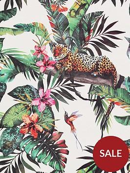 arthouse-animal-jungle-white-multi-wallpaper