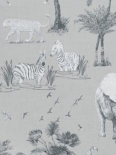 arthouse-safari-lagoon-grey-wallpaper