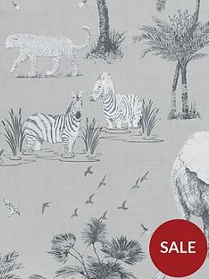 arthouse-safari-lagoon-grey-wallpaper