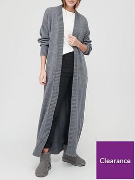 v-by-very-maxi-balloon-sleeve-cardigan-charcoal-marl