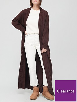 v-by-very-maxi-balloon-sleeve-cardigan-brown