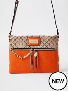 river-island-monogram-messenger-bag-orange