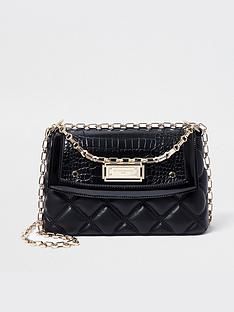 river-island-rue-saint-dominique-x-river-island-quilted-chain-shoulder-bag-black