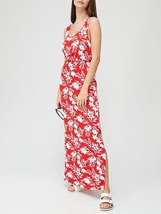 v-by-very-channelnbspwaist-maxi-dress-tropical-print