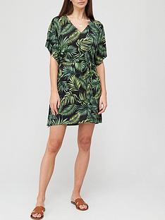 v-by-very-channel-waist-dressnbsp--palm-print