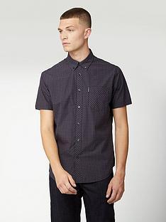 ben-sherman-short-sleeve-signature-gingham-shirt-purple