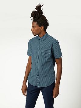 ben-sherman-short-sleeve-signature-gingham-shirt-sea