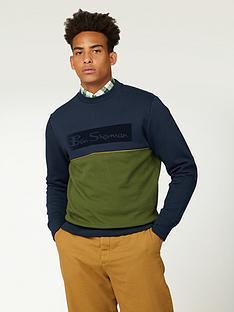 ben-sherman-sports-logo-sweatshirt-darknavy