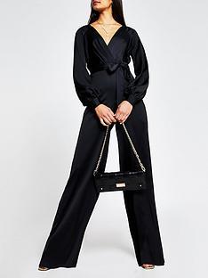 river-island-wrap-front-jumpsuit-black
