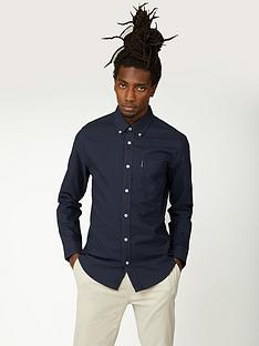 ben-sherman-ben-sherman-long-sleeve-signature-oxford-shirt-navy