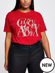 ri-plus-chanceaux-monogram-t-shirt-red