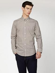 ben-sherman-ben-sherman-long-sleeve-micro-intricate-paisley-shirt