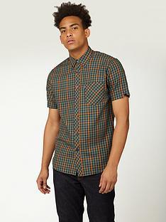 ben-sherman-ben-sherman-short-sleevetwill-gingham-overcheck-shirt