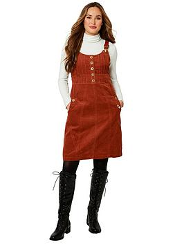 joe-browns-unique-cord-pinafore-dress-brown