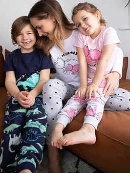 mini-v-by-very-girls-familynbspdinosaur-mini-menbsppyjamas-multi