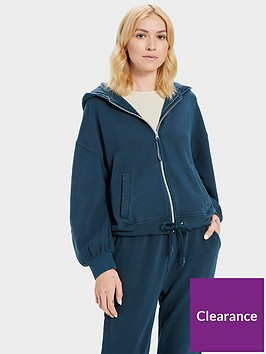 ugg-abbi-half-moon-sleeve-hoodie-navy