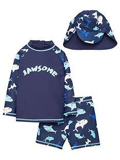 mini-v-by-very-boys-rawesome-rash-vest-short-and-hat-set-navy