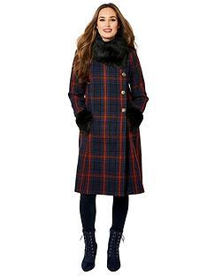 joe-browns-faux-fur-collar-coat-multi