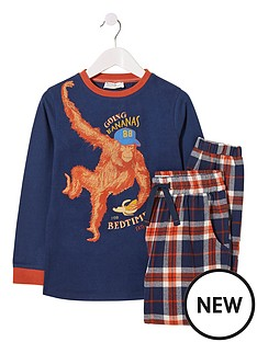 fatface-boys-orangutan-check-pyjama-set-orange