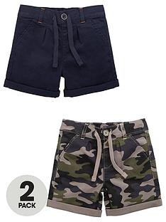 mini-v-by-very-boys-2-pack-woven-shorts-navycamo-print