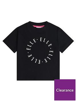 elle-girls-circle-logo-boxy-t-shirt-black